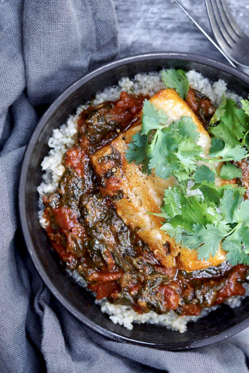 braised fish with tomato sauce