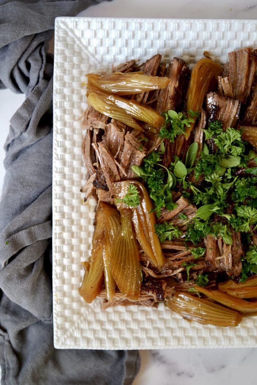 braised brisket with fennel