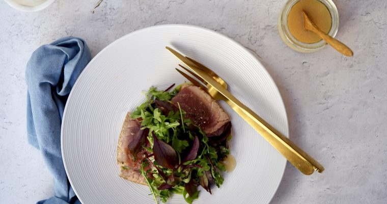 Seared Tuna Salad With Ginger Dressing