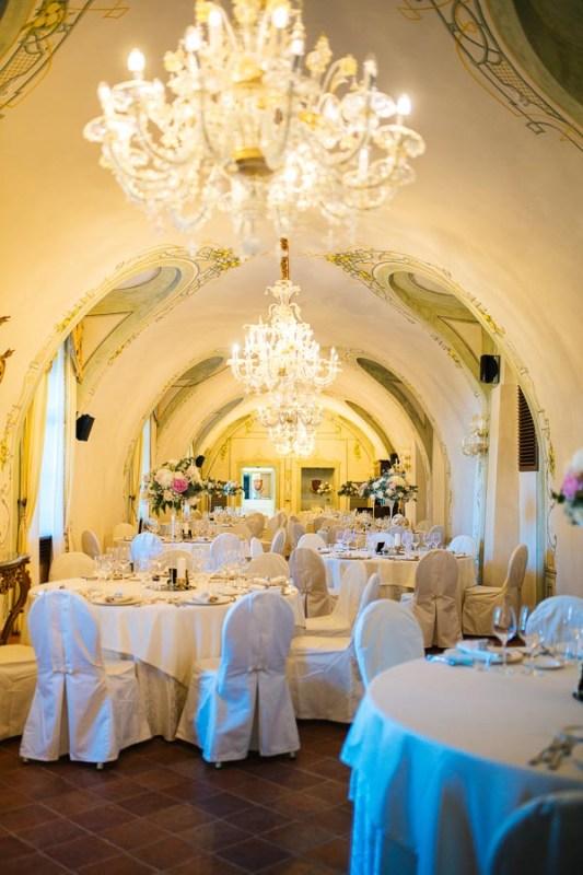 Centrotavola romantico castello di guarene