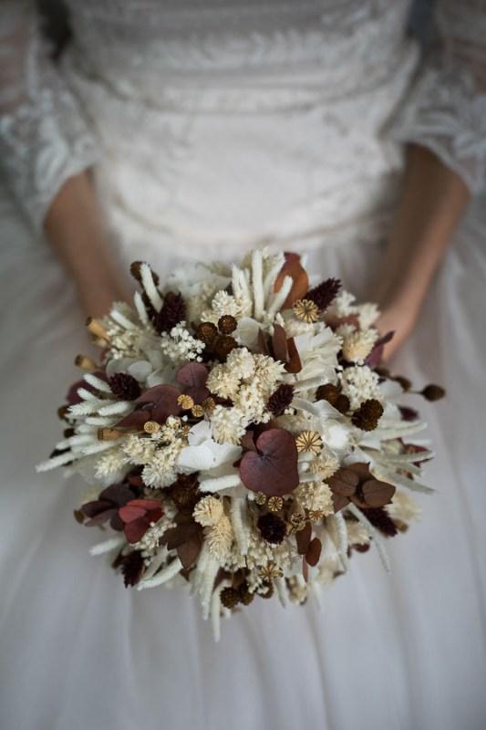 bouquet autunnale bacche marroni eucaliptus