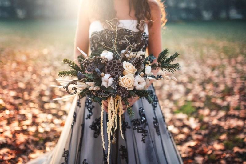 bouquet romantico inverno neve bacche