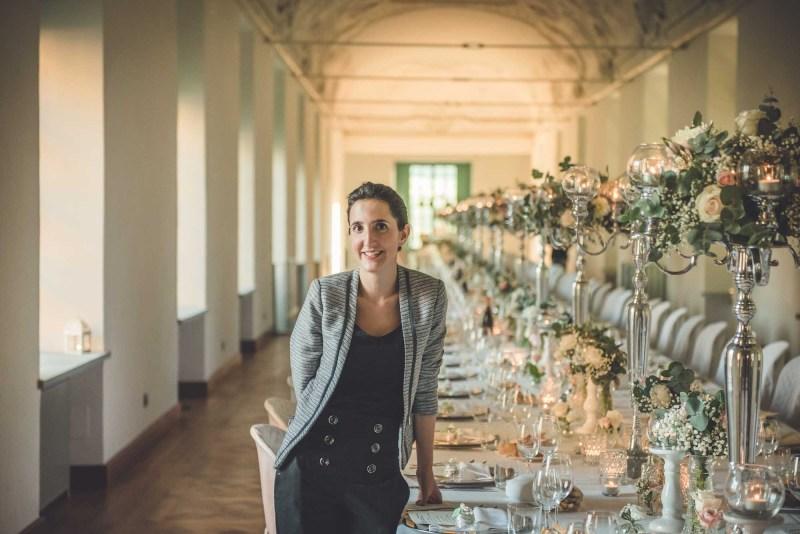 Centrotavola coppa martini a Villa Bria -