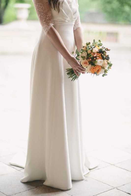 bouquet romantico rose ranuncoli arancio pesca simmi