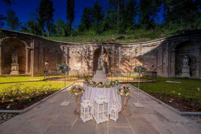 Wedding Cake romantica a Villa Bria - PH S. Ierace: