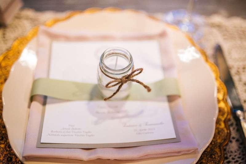 bomboniere segnaposto candele shabby chic per matrimonio a torino