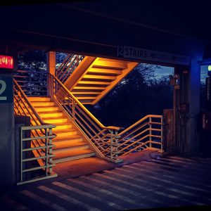 Park Avenue Garage staircase.