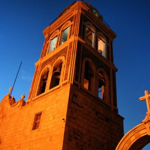 The mission in Loreto, Baja California Norte, Baja's first mission.