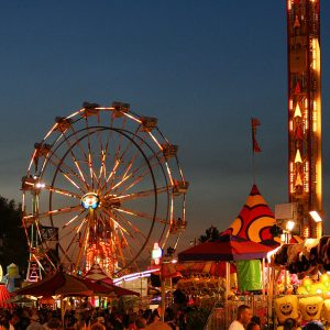 Evening comes to the Pima County Fair.