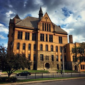 The Old Main building at Wayne State University in Detroit.