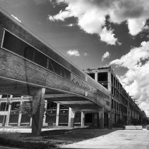 The old Packard plant in Detroit, Michigan.