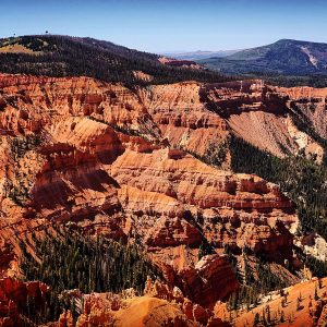 Cedar Breaks National Monument, viewed at over 10,000 feet in elevation.