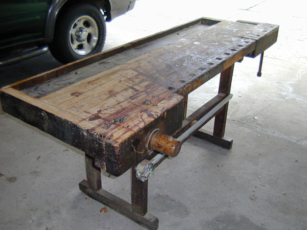 The front vise. I will have to make a handle since the original one is