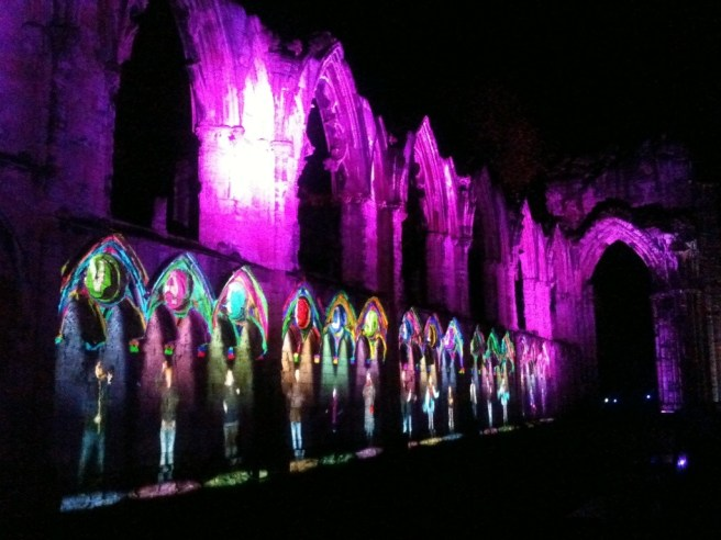 Illuminating York, Museum Gardens, York 2012