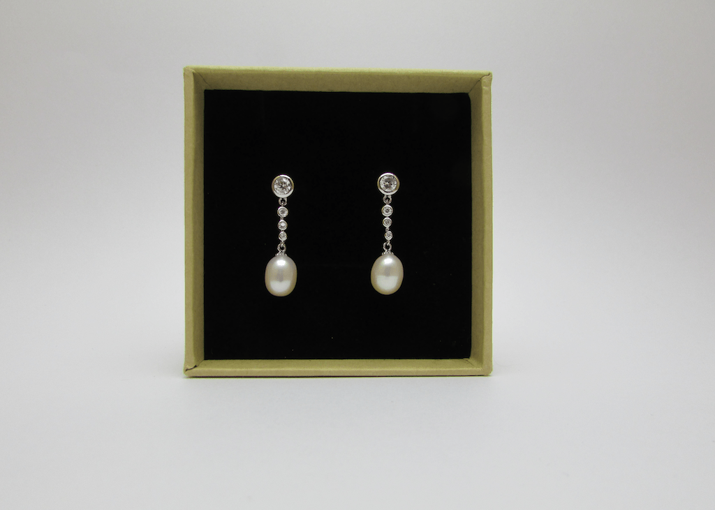 Clarence Pearl Drop Earrings