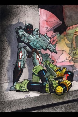 Dredd vs. Robotic Assassin