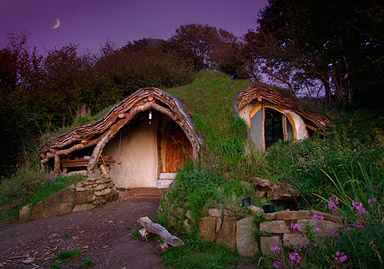 Low impact wood house, Wales