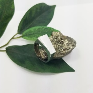 (Unique) Silver ring special cut (Cutedgy)