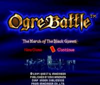 Ogre Battle (SNES) - Écran principal