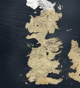 Westeros, le continent sous le joug du trône de fer (source).