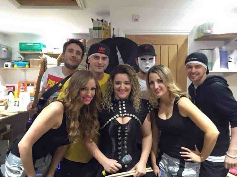 Ultra 90s at Katie Price's Wedding Vow Renewal Party, 2015. Yes, I'm the one in the mask.
