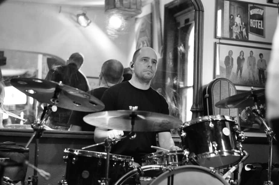 with Malaya Blue at The Walnut Tree Shades, Norwich, July 2015.  Photo credit: Steve Dulieu