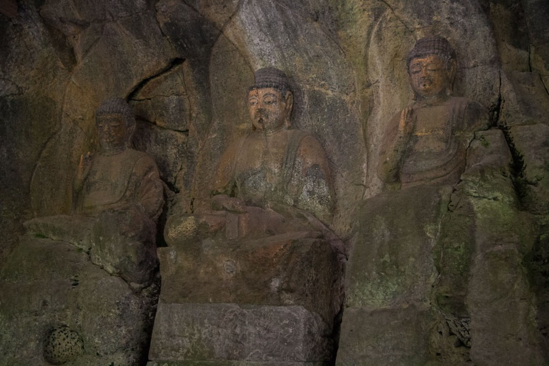 The Three Nyorai Statues