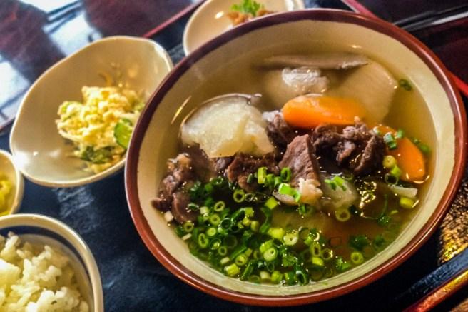 Wild Boar Miso Soup.