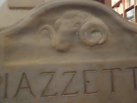 targa muflone in marmo