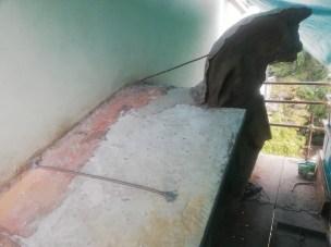 Ancoraggi alla parete con barre inox