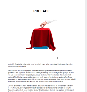 Linkein Unveiled preface page