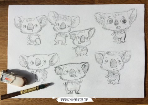 Some early sketches of Koala.