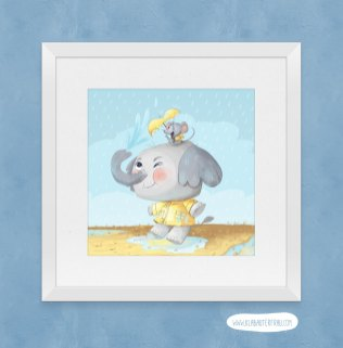 Elephant and Mouse Art Print