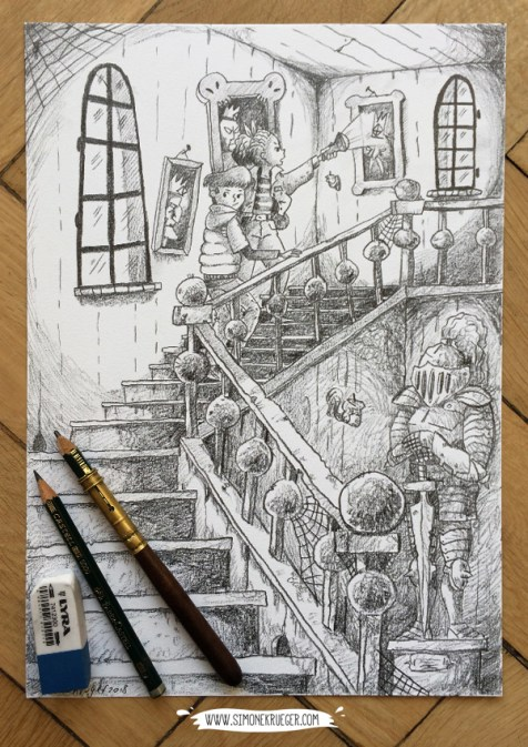 Hallway - Pencil Artwork