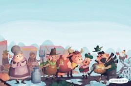 Final Illustration fot the second page of Mr. & Mrs. Vinegar