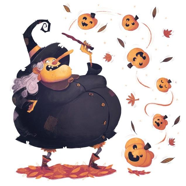 Pumpkin Witch sommones some Pumpkin minions for Halloween