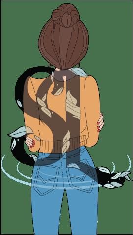Meisje met knot