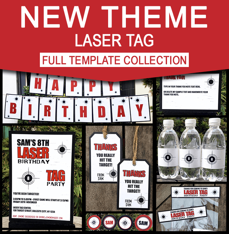 laser tag party invitations decorations