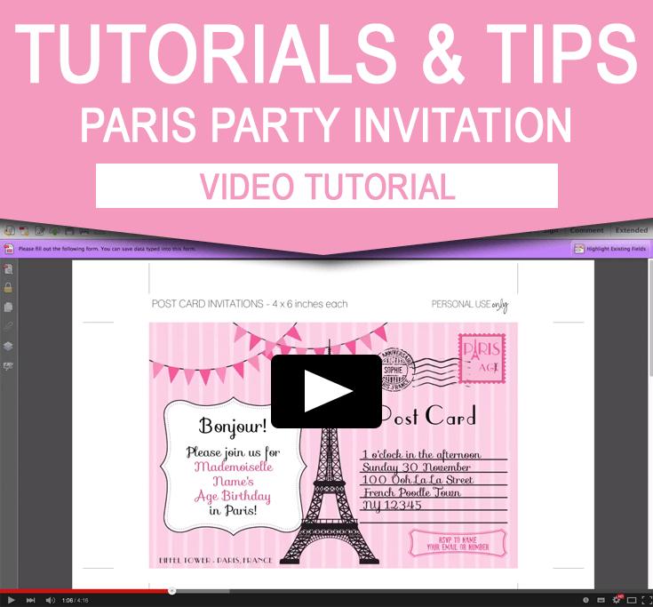 paris invitation template
