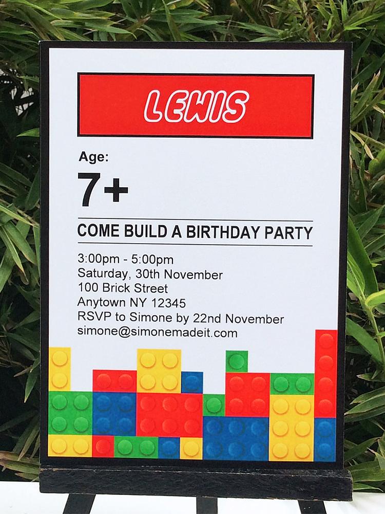 lego birthday party printables
