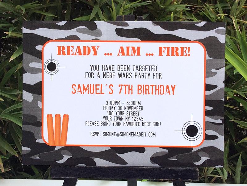 nerf birthday party printable templates new
