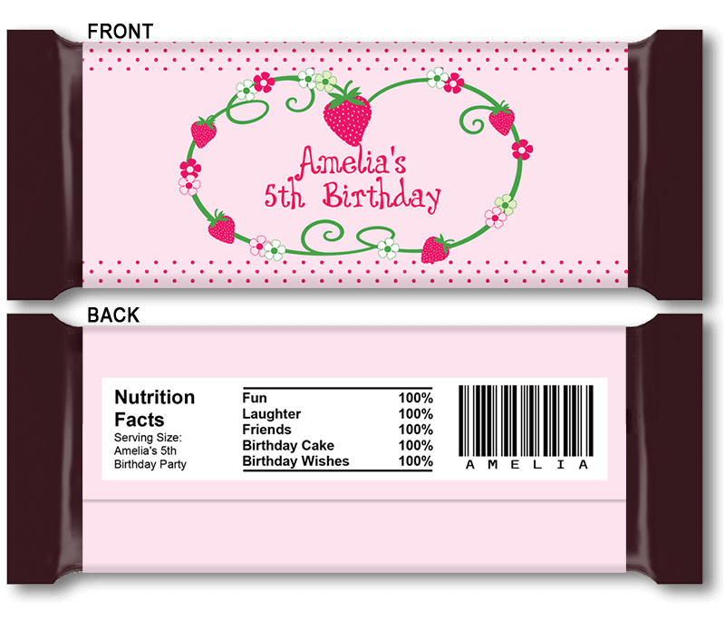 Hershey Bar Wrappers Baby Shower