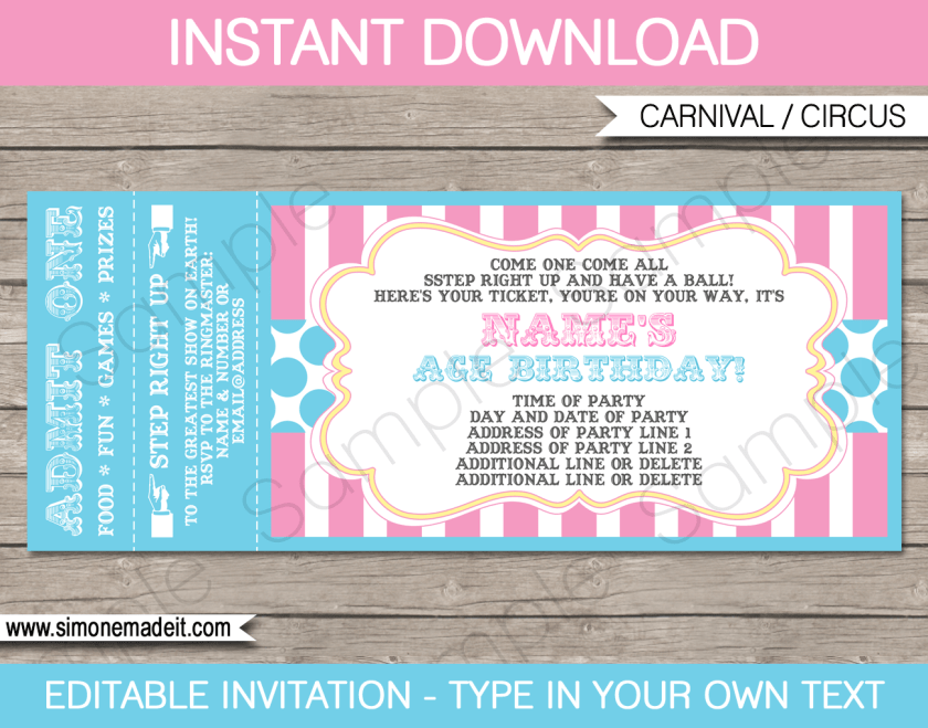 Movie Ticket Wedding Invitation Template Free – Movie Ticket Template