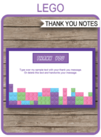 lego friends party invitations