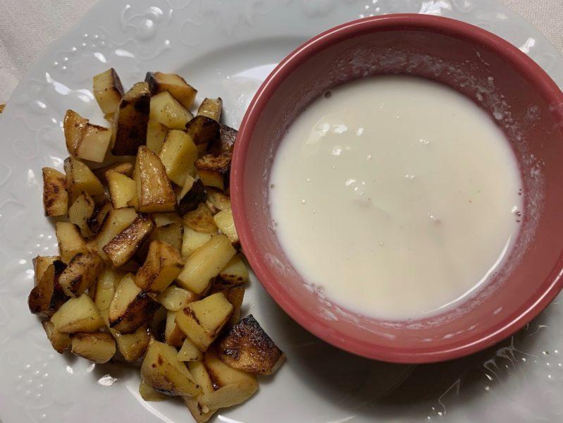 lait caillé pommes de terre