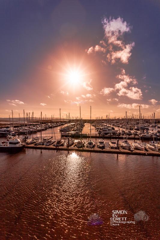 Sunset Lymington Port