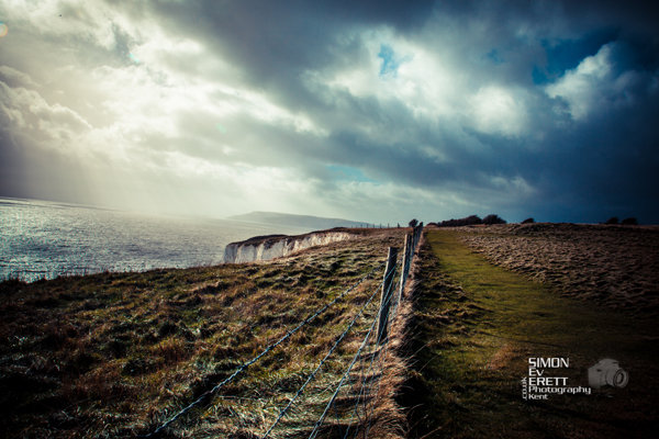 Countryside hiking isle of wight