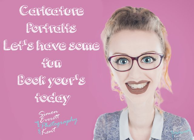Caricature Portrait photography Kent