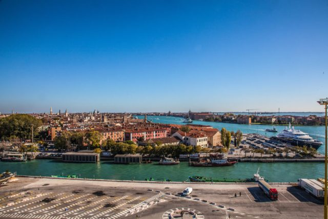 View of venice from a cruise ship