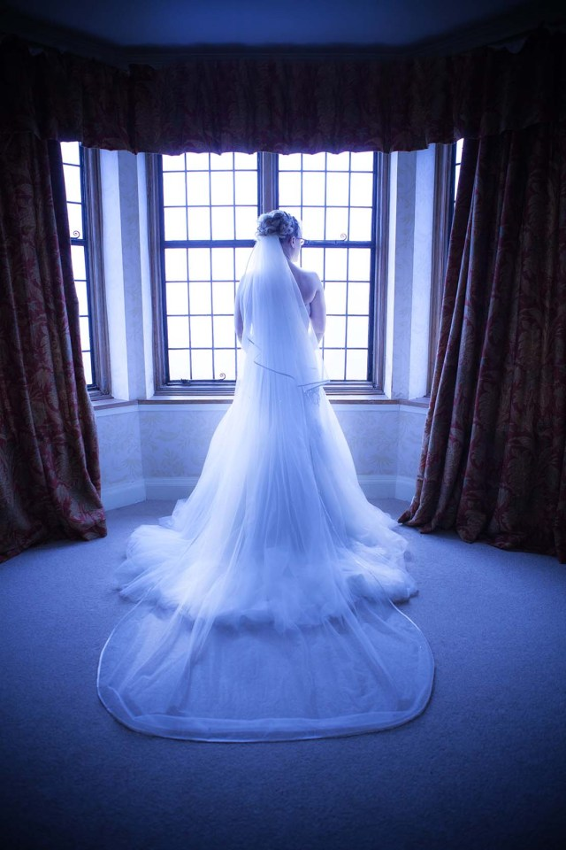 Moonlight window wedding photography look